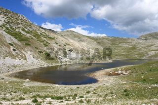 Landscape view of Lake of the Duchess. Lazio