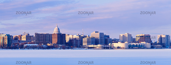 Winter panorama of Madison