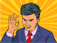 Businessman OK gesture