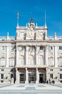 Royal Palace in Madrid in a beautiful blue sky day