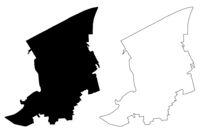 Dundaga Municipality (Republic of Latvia, Administrative divisions of Latvia, Municipalities and their territorial units) map vector illustration, scribble sketch Dundaga map