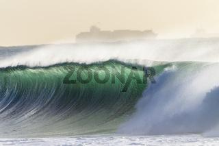 Wave Crashing Ship
