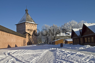 The walls and towers of the old Orthodox monastery.