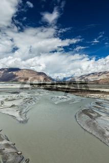Landscape of Nubra Valley in Himalayas