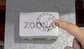 Calgary, Alberta, Canada. Sep 21, 2020. A GeneralAire home humidifier level control.