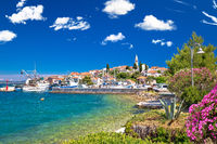 Zadar archipelago. Kali village on Ugljan island turquoise waterfront view
