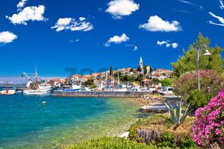 Zadar archipelago. Kali village on Ugljan island turquoise waterfront view