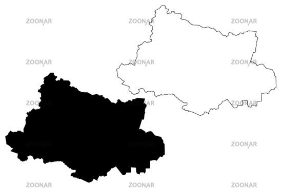 Aluksne Municipality (Republic of Latvia, Administrative divisions of Latvia, Municipalities and their territorial units) map vector illustration, scribble sketch Aluksne map