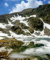 Elenino lake in the spring, Bulgaria