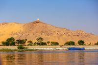 Tombs of Nobles mountain In Egypt