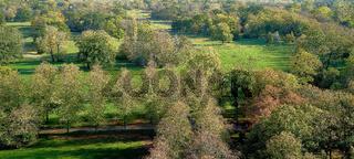 Luftbild vom Stadtpark Rotehorn in Magdeburg
