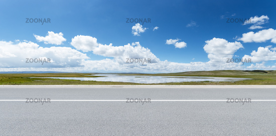 road and beautiful natural landscape