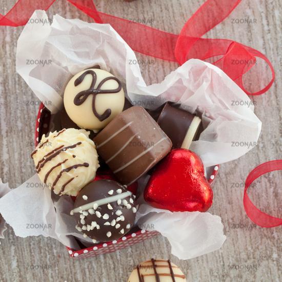 Various chocolates and chocolates