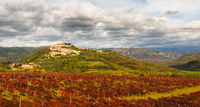 Panorama of lovely village of Motovun in Istria
