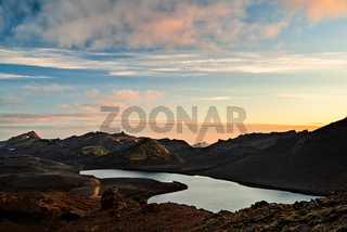 Langisjor lake at sunset, Iceland