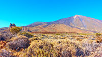 Panoramic view with The Teide volcano in Tenerife