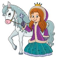 Winter princess with horse image 1
