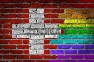 Dark brick wall - LGBT rights - Switzerland