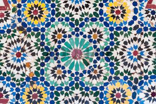 Background of vintage moroccan ceramic tiles