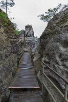 Walkway at the Bastei near Dresden
