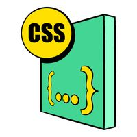 CSS file icon in icon cartoon