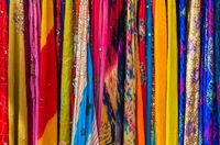 Close-up of multi-colored sari