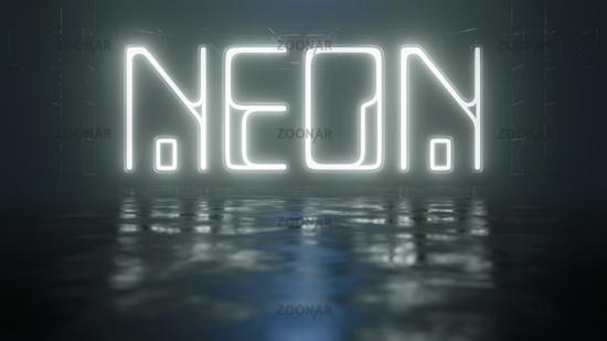 neon light sign word neon