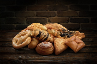 Delicious mixed various pastry products