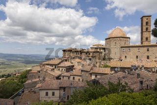 Volterra, Dom und Campanile, Toskana, Italien