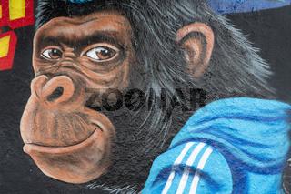 Graffiti im Mauerpark in Berlin