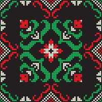 Romanian traditional pattern 210