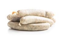 White sausage. Mini weisswurst.