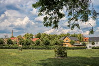 Delitzsch, Germany - June 19, 2019 - green city idyll