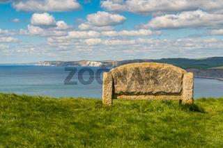 South West Coast Path, near Emmett's Hill, Jurassic Coast, Dorset, UK