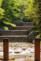 Driftwood dam in Jenbach near Bad Feilnbach