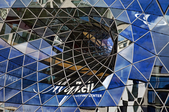 Exterior facade of the My Zeil gallery, shopping center, Frankfurt am Main, Hesse, Germany, Europe