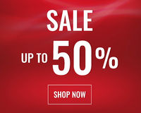 Red Sale banner With Text