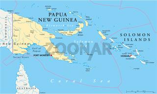 Papua-Neuguinea Landkarte