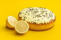 Sweet lemon cake with lemon fruit