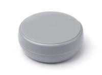 Blank gray plastic cosmetics jar