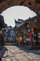 Shopping street in Fenghuang Ancient Town