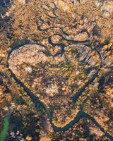 Heart shaped river