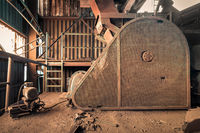 Creepy abandoned industry area with natural decay a lost place a decayed factory hall
