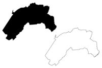 Lubana Municipality (Republic of Latvia, Administrative divisions of Latvia, Municipalities and their territorial units) map vector illustration, scribble sketch Lubana map