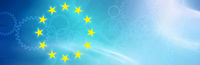 eu symbol, flag, europe, gear wheels, blue, banner