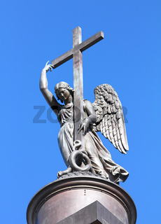 angel statue on top of Alexander Column - St. Petersburg
