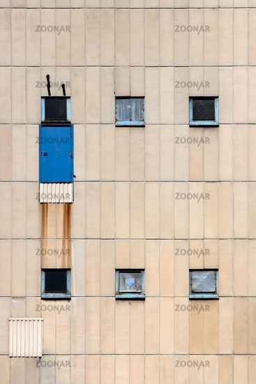 Rusty house front in Berlin. Germany
