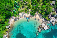 Aerial view tropical beach Sai Nuan