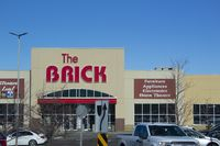 Calgary Alberta, Canada. Oct 17, 2020. The Brick is a Canadian retailer of furniture, mattresses, appliances and home electronics from Edmonton, Alberta, Canada.