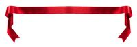 Satin ribbon banner on white